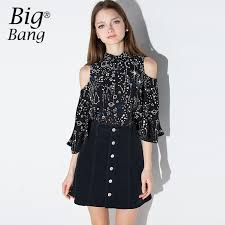 shoulder cut out blouse preppy style shirts shoulder butterfly sleeve galaxy