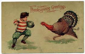 history celebrating thanksgiving with food and charity