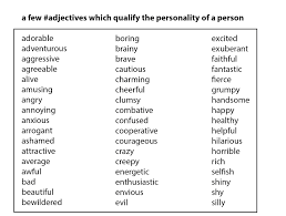 Resume Adjectives Adjectives For A Resume Free Resume Example And Writing Download