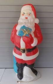 lighted plastic christmas yard decorations vintage 40 tall santa claus plastic blow mold lighted christmas
