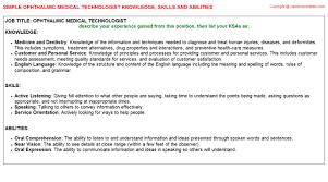 ophthalmic medical technologist knowledge u0026 skills