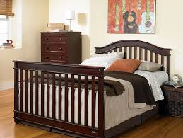 Cribs That Convert Into Full Size Beds amazon com europa baby palisades convertible crib classic cherry