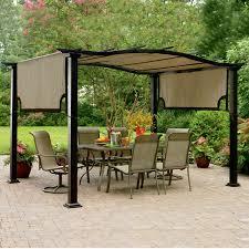 freestanding pergola with canopy