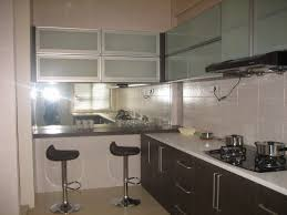 stylish and modern mirrored kitchen cabinets mirror front cabinets