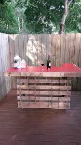Outside Patio Bar by Best 25 Bar Made From Pallets Ideas On Pinterest Diy Outdoor