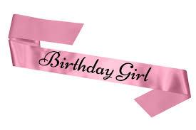 birthday girl birthday girl sash