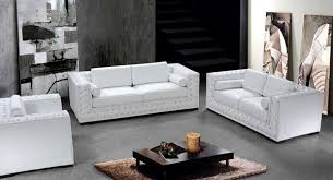 Leather Sofa And Chair Sets White Leather Sofa Set With Crystals He 708 Leather Sofas