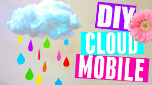 Diy Nursery Decor How To Make A Cloud Mobile Diy Room Decor Diy Nursery Decor