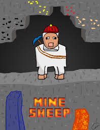 captainsparklez jerry captainsparklez survival lp mine sheep poster by casperdeviantart