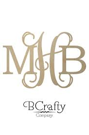 monogramed letters diametric wooden monogram letters bcrafty company