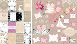 wedding decorations and invitations vector vector graphics blog