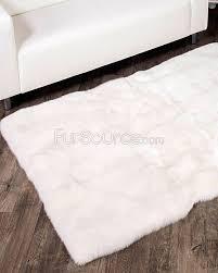 Sherpa Rug White Fox Fur Rug Fursource Com