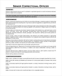 sample correctional officer job description 7 examples in pdf