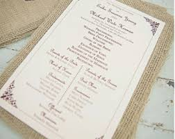 Ceremony Order For Wedding Programs Large Wedding Program Oversized Program For Wedding Ceremony