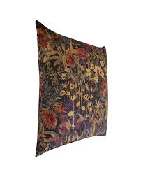 Vintage Velvet Flowers - faria flowers vintage velvet cushion in blackberry liberty london