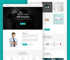 personal portfolio template free web designer personal portfolio website template psd at