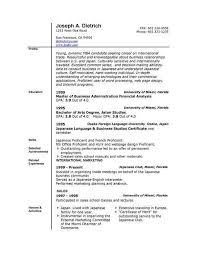 chronological sample resume chronological resume template