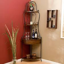Oak Hill Bakers Rack Bakers Rack With Wine Storage Metal Racks For Classy Home