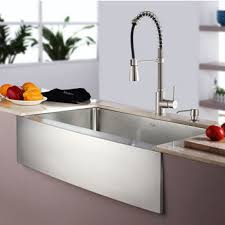 Commercial Style Kitchen Faucet Kitchen Sink And Faucet Sets Stainless Steel And Glass Vessel