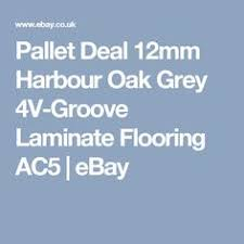 pallet deal 12mm harbour grey oak 4v groove laminate flooring ac5