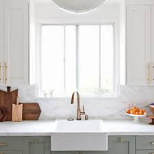 green kitchen cabinets with white countertops best two toned kitchen cabinet ideas