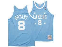 lakers light blue jersey kobe bryant jerseys t shirts los angeles lakers 8 24 lids com