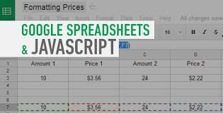 javascript pattern for price using custom javascript functions in google spreadsheets pixafy
