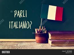 Flag Of Itali Chalkboard Question Parli Italiano Image U0026 Photo Bigstock