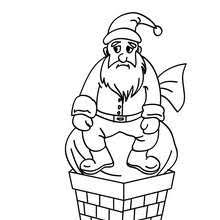 santa claus blocked chimney coloring pages hellokids