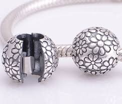european pandora bracelet images New 925 sterling silver floral pattern lock clip clasp charms jpg