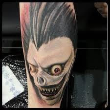10 chilling death note tattoos of ryuk the shinigami tattoodo