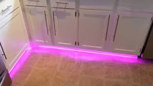 under cabinet led strip lighting kitchen led strip light under cabinets before floor tiles youtube