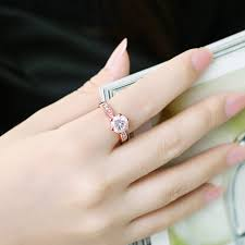 korean wedding rings visisap korean wedding rings for women gold color ring