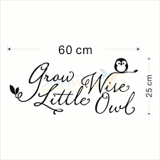 Wise Decor by Aliexpress Com Buy Art Poster Grow Wise Little Owl Home Decor