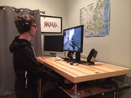 gameing desks a year of pc gaming with a standing desk pc gamer