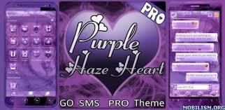 go sms pro premium apk purple hearts go sms pro v1 5