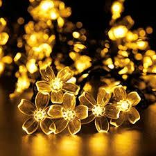 outdoor solar led string lights addlon garden
