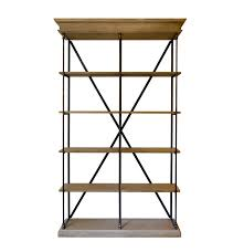 Metal And Wood Bookshelves by Inspirations Wood And Metal Bookshelf Restoration Hardware