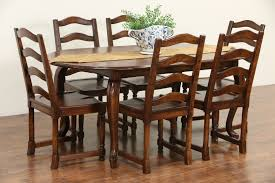sold country french vintage oval dining table harp gallery