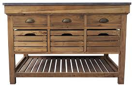 avril french country marble top pine 6 drawer kitchen island