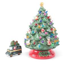 christopher radko ceramic christmas tree lamp and trinket box ebth