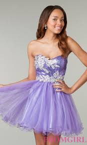 short strapless sequined prom dress promgirl