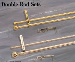 Inside Mount Cafe Curtain Rods by Curtain Rods Drapery Rods Hardware Tie Backs Sets