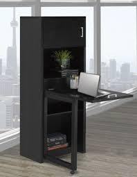 multi tiered computer desk brassex inc multi tier bookcase with fold down desk black walmart