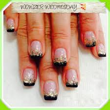 acrylic french manicure black and white nail art designs needy