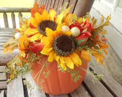 Centerpieces With Sunflowers by Fall Wedding Centerpieces Etsy