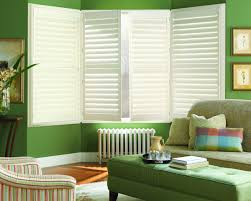 decorating hunter douglas shutters with inside wooden window