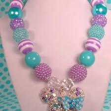 chunky bead necklace images Best chunky lavender necklace products on wanelo jpg