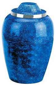 small cremation urns small cobalt blue metal urn memorial urns