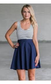 navy stripe summer dress online cute navy juniors boutique dress
